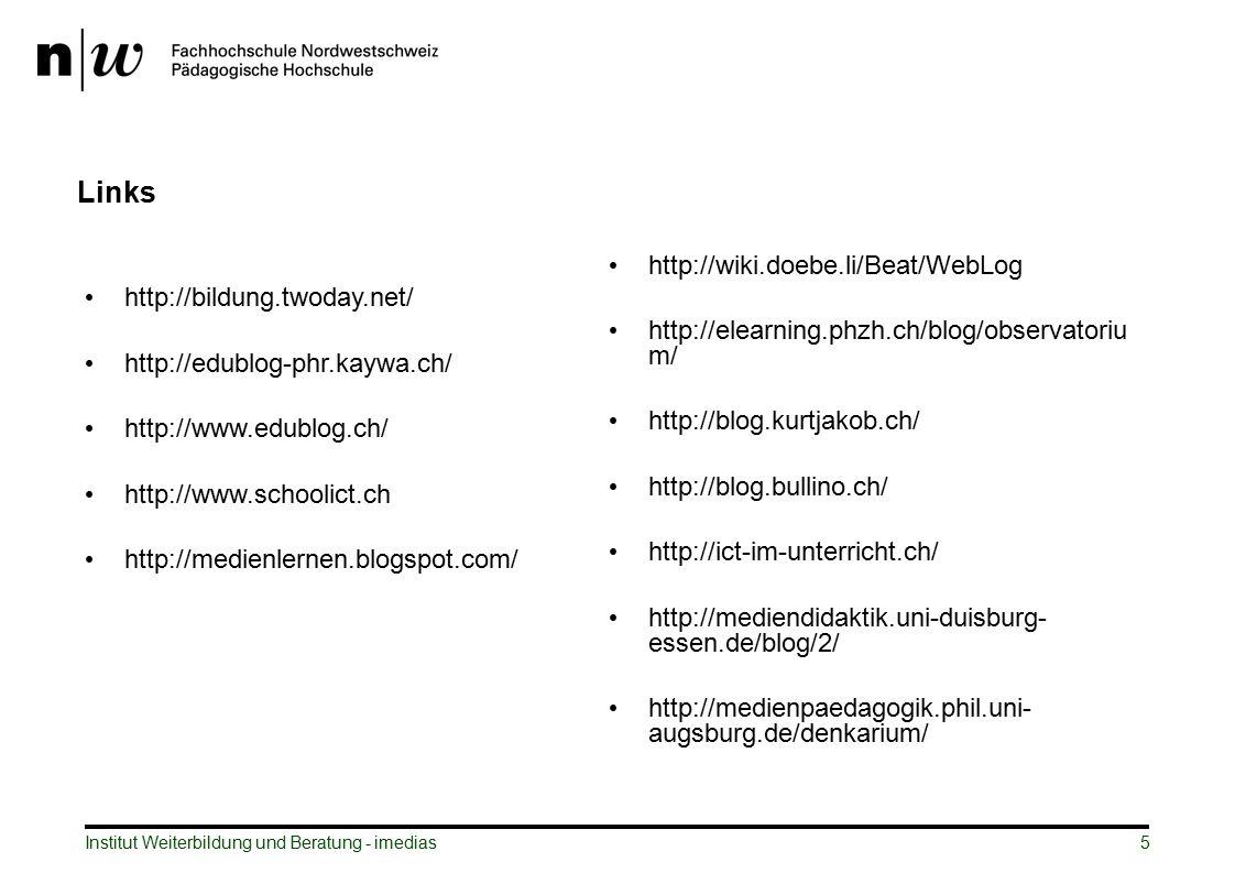 Links http://wiki.doebe.li/Beat/WebLog http://bildung.twoday.net/