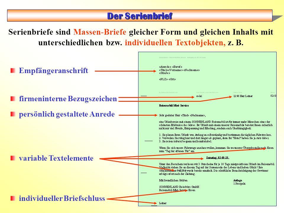 Seriendruck Der Serienbrief.