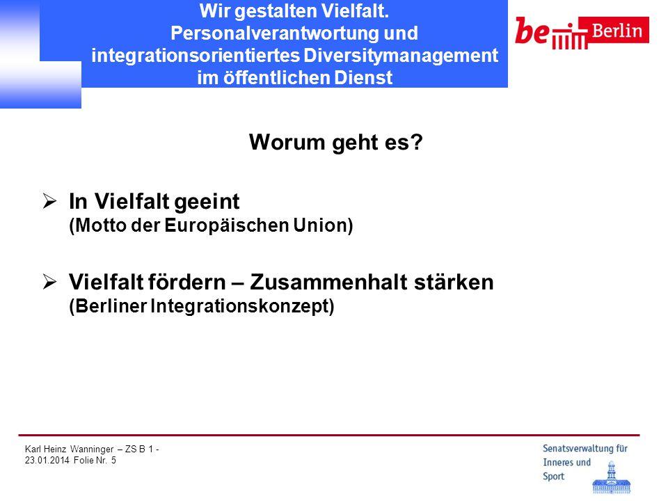 In Vielfalt geeint (Motto der Europäischen Union)