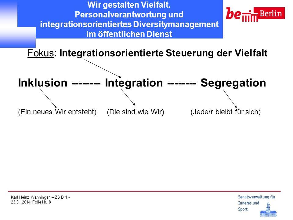 Fokus: Integrationsorientierte Steuerung der Vielfalt