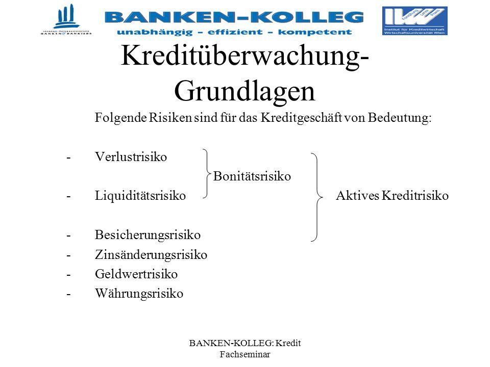 Kreditüberwachung- Grundlagen