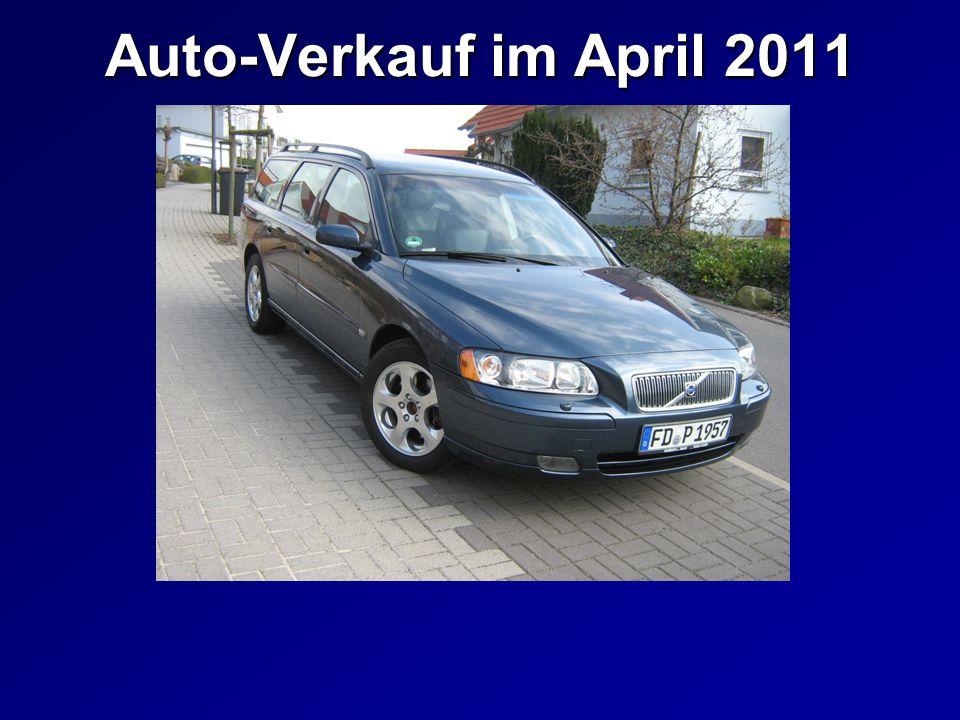 Auto-Verkauf im April 2011