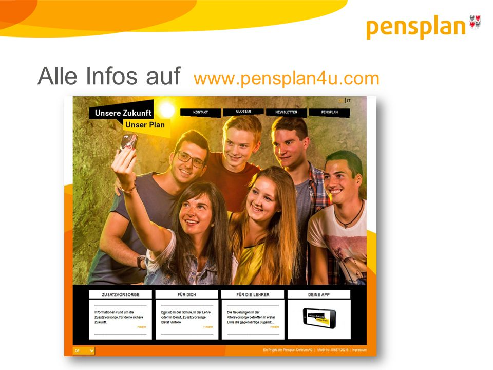 Alle Infos auf www.pensplan4u.com