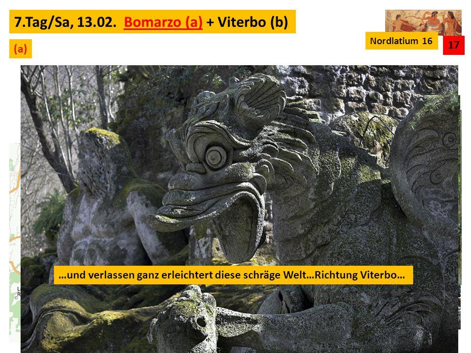 """…wir besuchen den """"Parco dei Mostri bei Bomarzo..."""