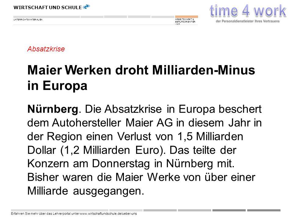 Maier Werken droht Milliarden-Minus in Europa