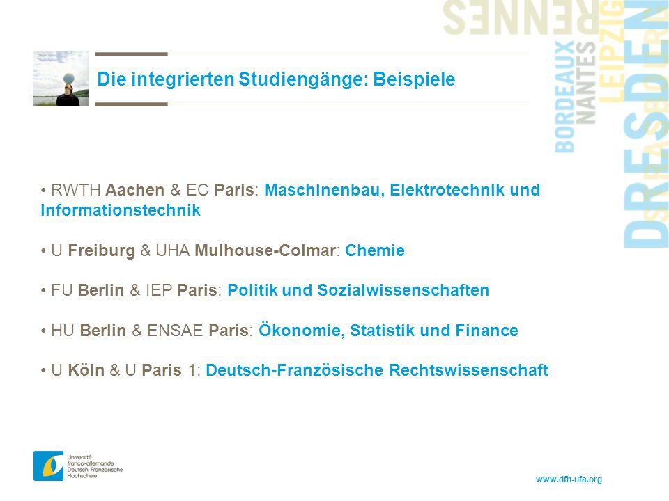 Die integrierten Studiengänge: Beispiele