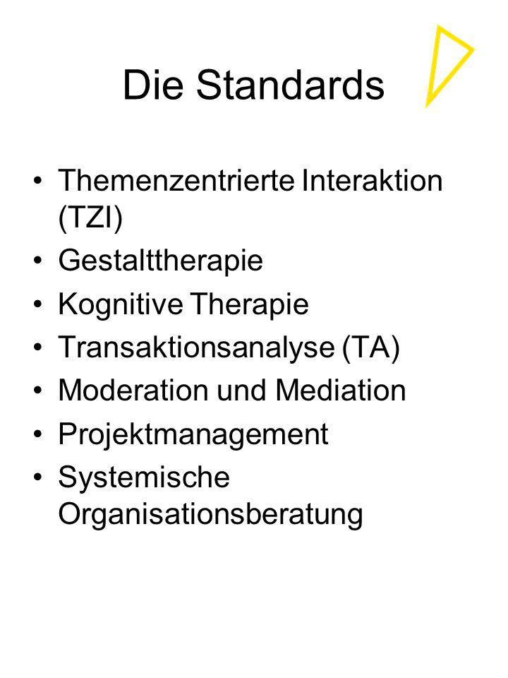 Die Standards Themenzentrierte Interaktion (TZI) Gestalttherapie
