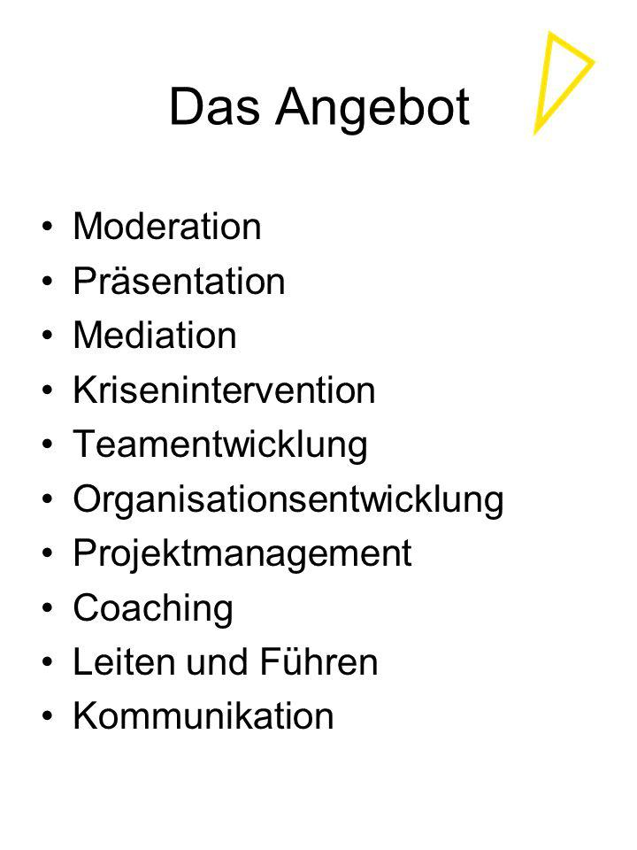 Das Angebot Moderation Präsentation Mediation Krisenintervention