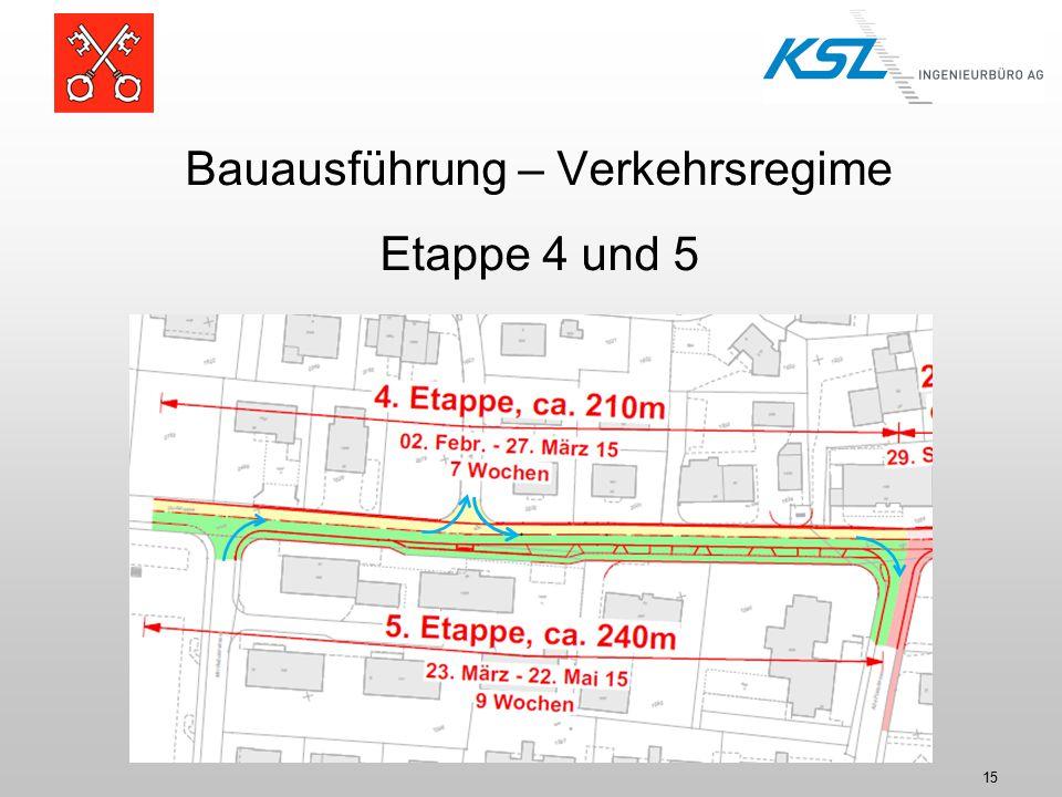 Bauausführung – Verkehrsregime Etappe 4 und 5