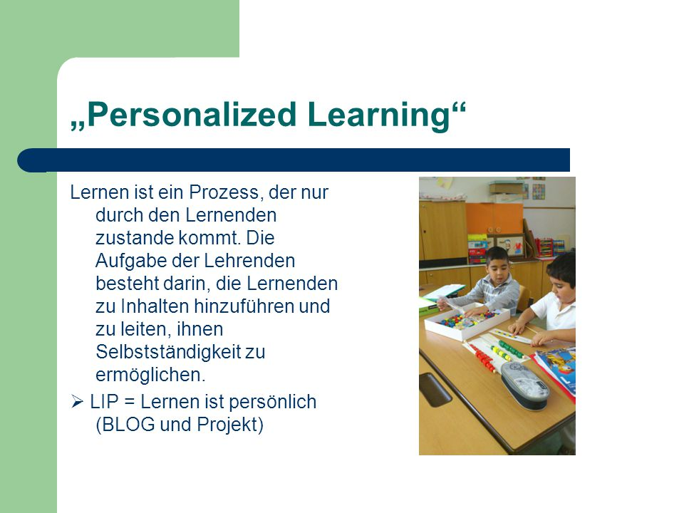 """Personalized Learning"