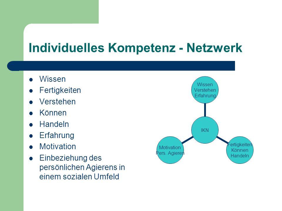 Individuelles Kompetenz - Netzwerk