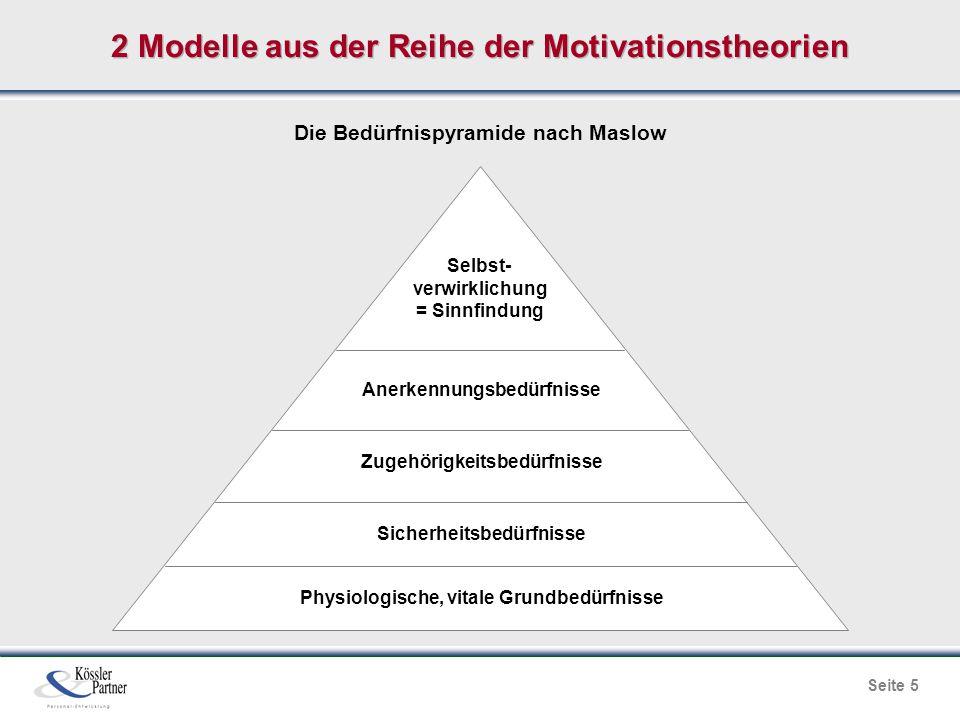 2 Modelle aus der Reihe der Motivationstheorien