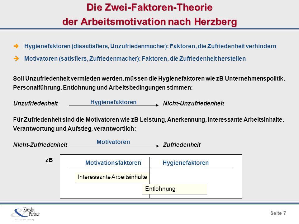 Die Zwei-Faktoren-Theorie der Arbeitsmotivation nach Herzberg