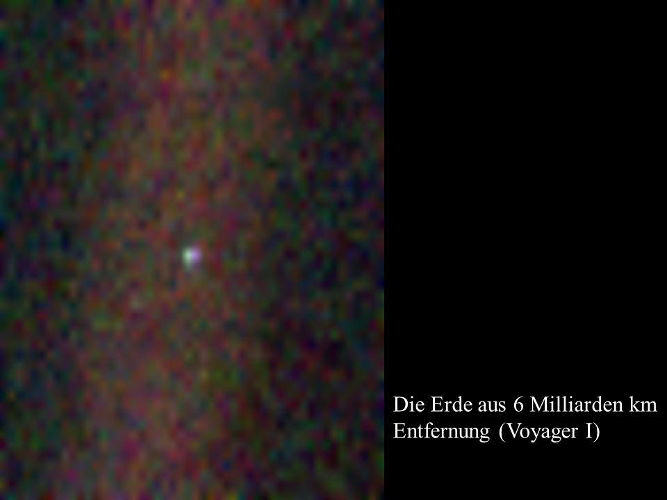 Die Erde aus 6 Milliarden km Entfernung (Voyager I)