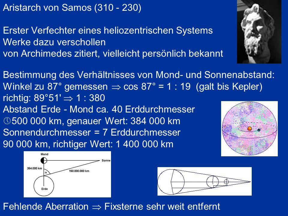 Aristarch von Samos (310 - 230)