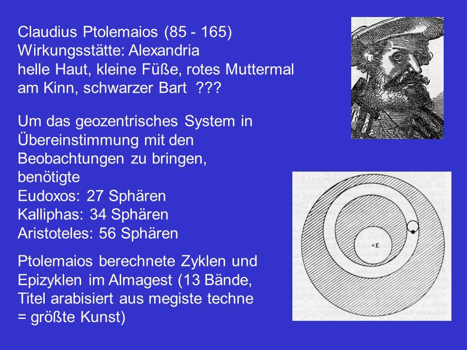 Claudius Ptolemaios (85 - 165)