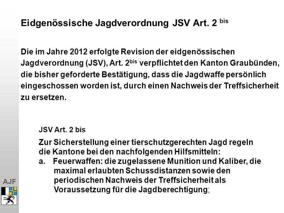 JSV Art. 2 bis Eidgenössische Jagdverordnung JSV Art. 2 bis