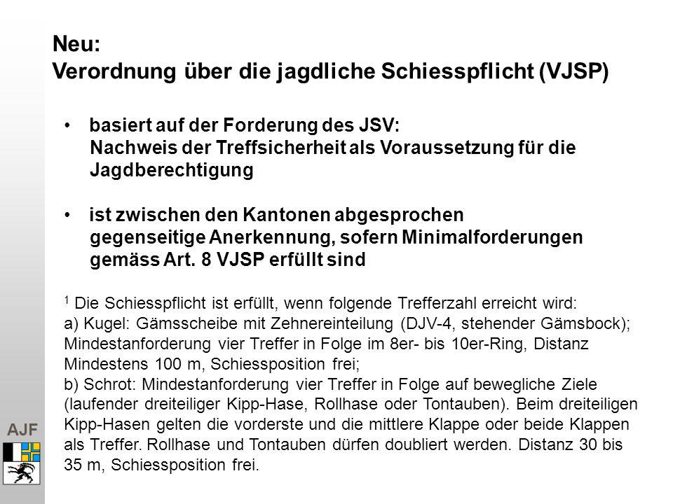 Verordnung über die jagdliche Schiesspflicht (VJSP)