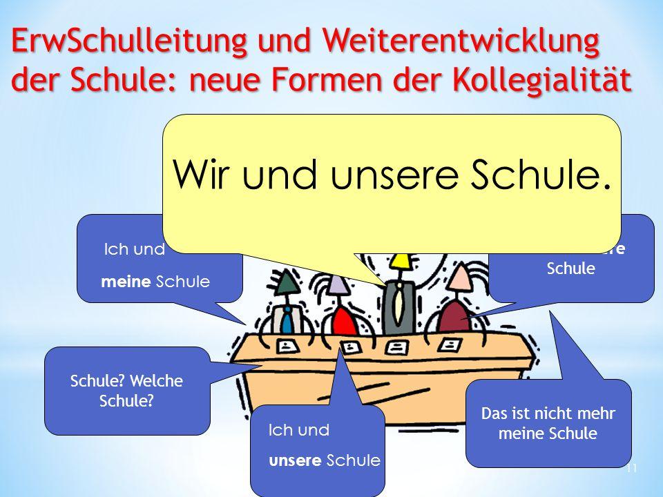ErwSchulleitung und Weiterentwicklung der Schule: neue Formen der Kollegialität