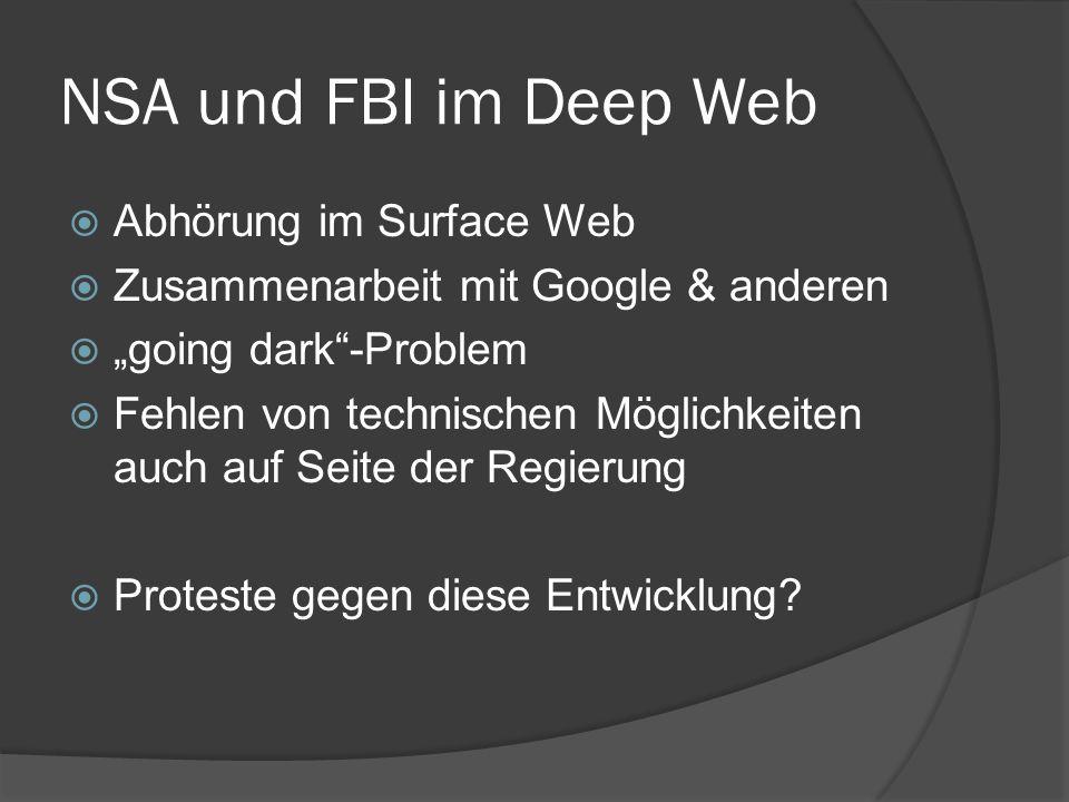 NSA und FBI im Deep Web Abhörung im Surface Web