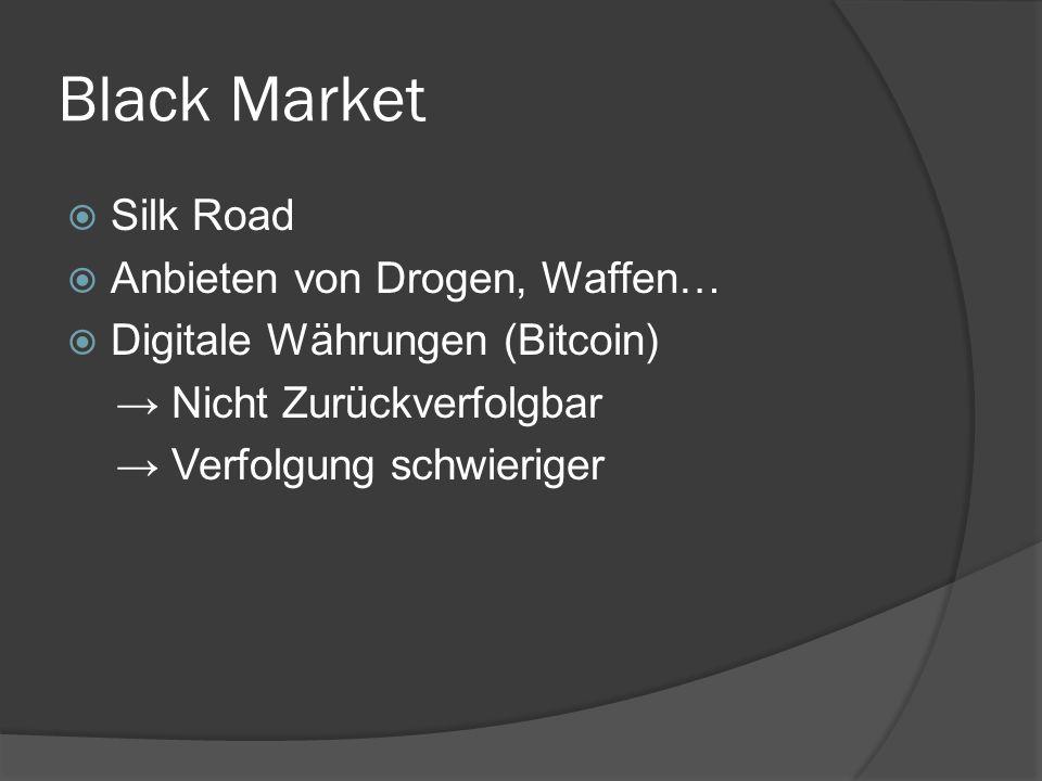 Black Market Silk Road Anbieten von Drogen, Waffen…