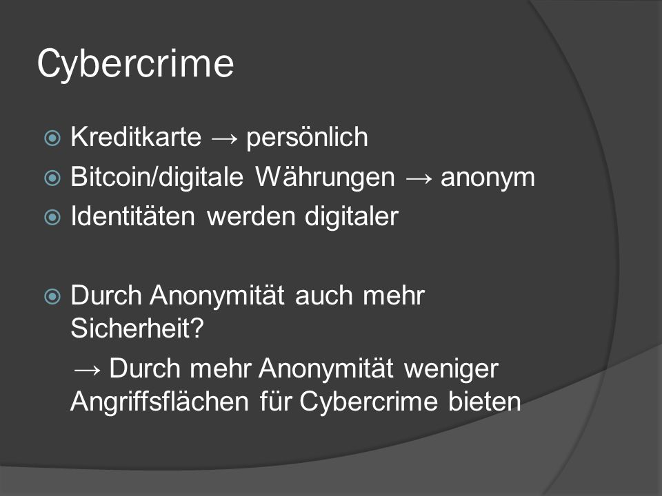Cybercrime Kreditkarte → persönlich