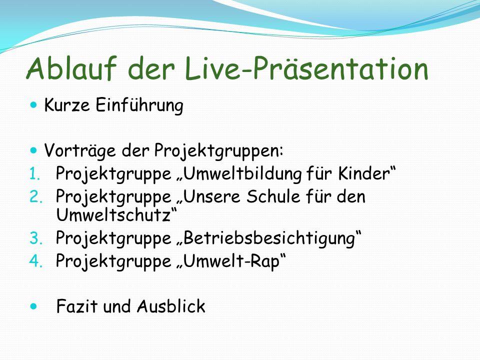 Ablauf der Live-Präsentation