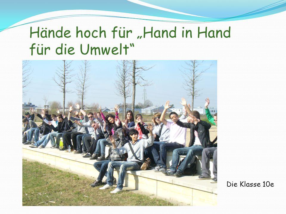 """Hände hoch für """"Hand in Hand für die Umwelt"""