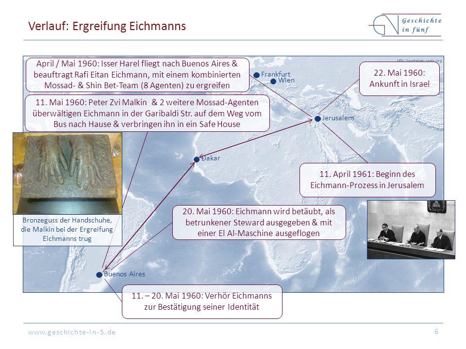 Verlauf: Ergreifung Eichmanns