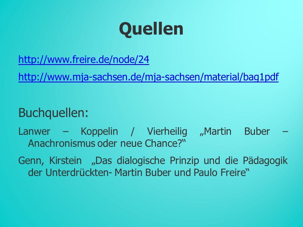Quellen Buchquellen: http://www.freire.de/node/24