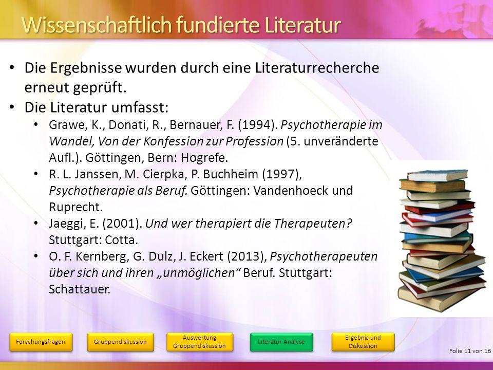 Wissenschaftlich fundierte Literatur