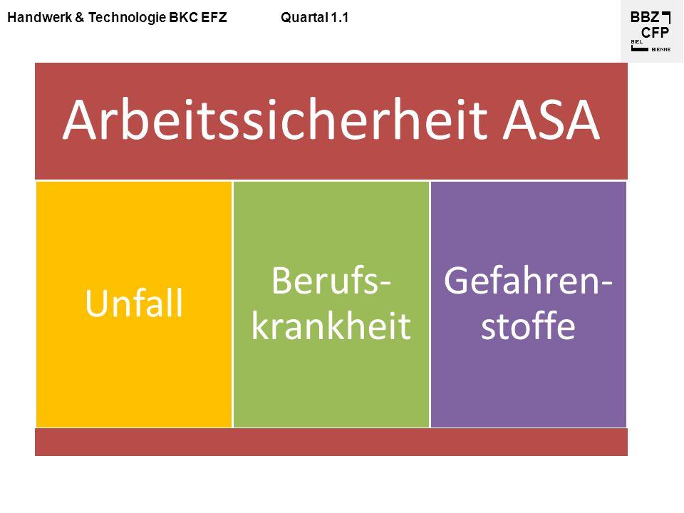 Arbeitssicherheit ASA