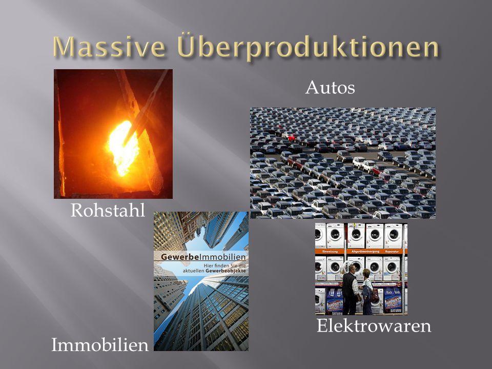 Massive Überproduktionen