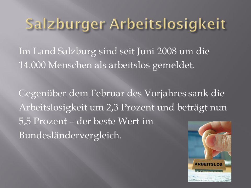 Salzburger Arbeitslosigkeit