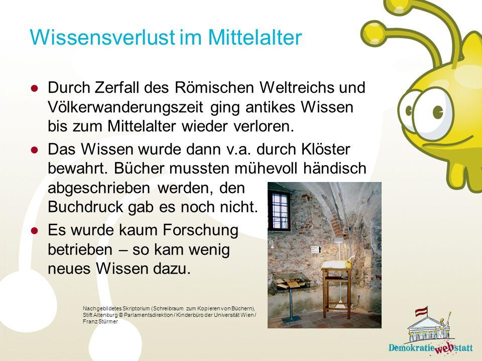 Wissensverlust im Mittelalter