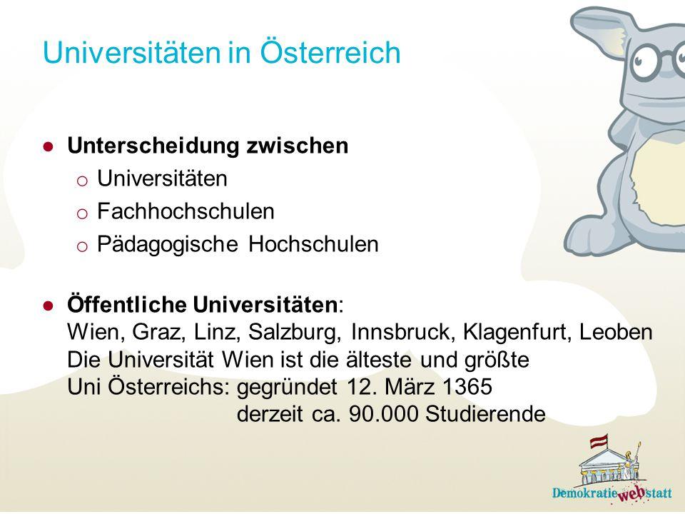 Universitäten in Österreich