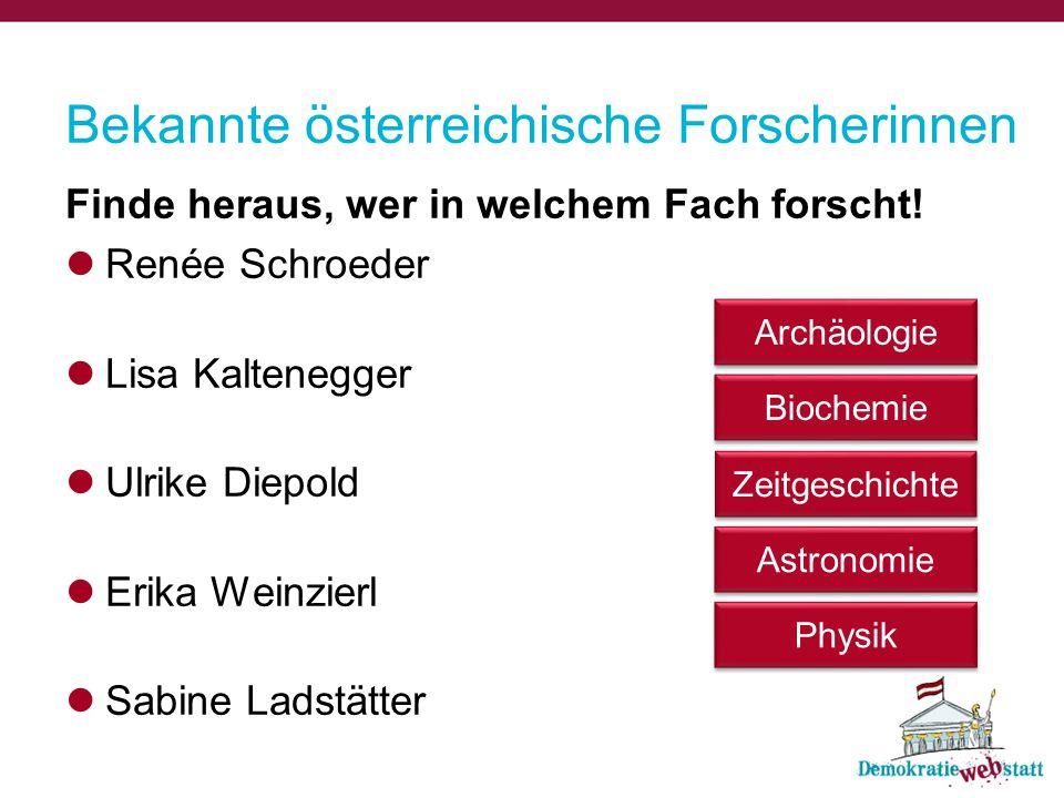 Bekannte österreichische Forscherinnen