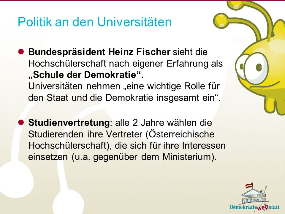 Politik an den Universitäten