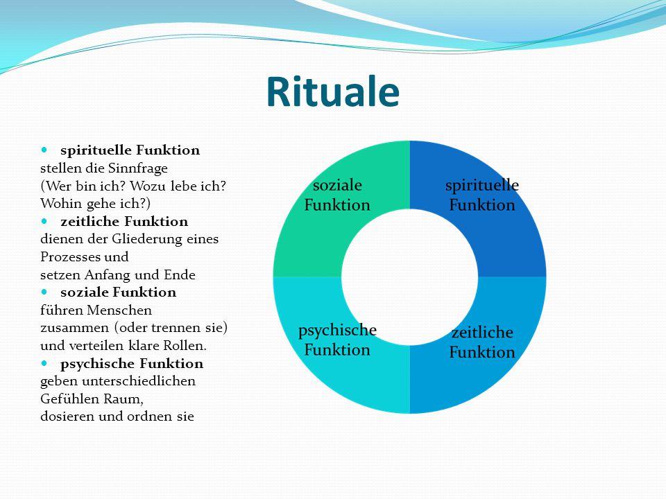 Rituale spirituelle Funktion stellen die Sinnfrage