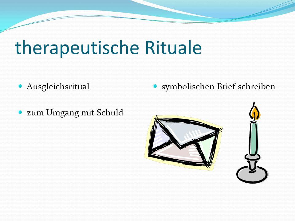 therapeutische Rituale