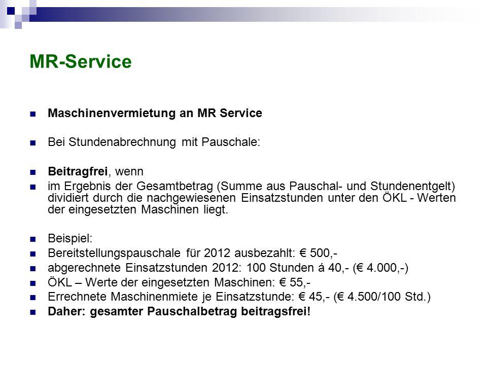 MR-Service Maschinenvermietung an MR Service