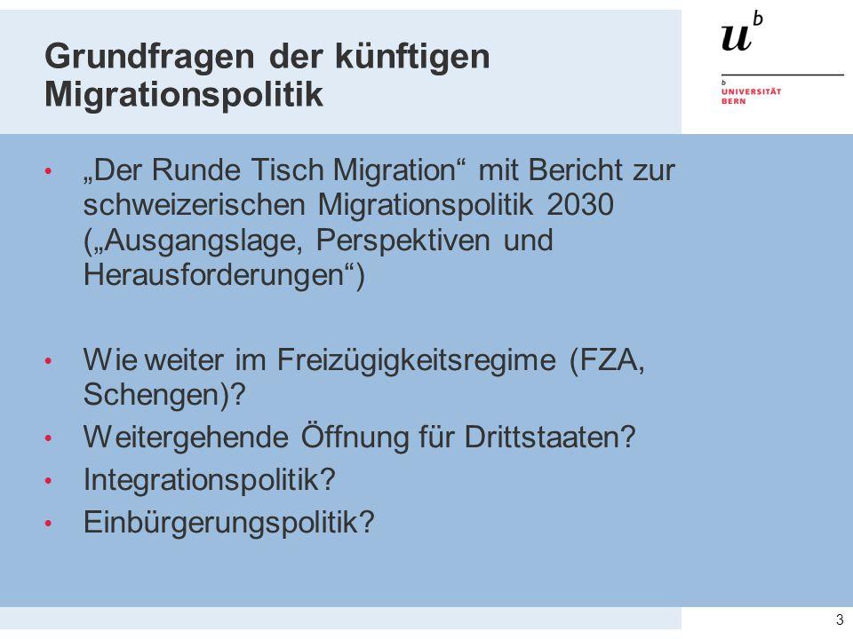 Grundfragen der künftigen Migrationspolitik