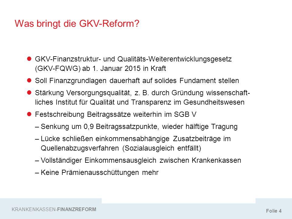 Was bringt die GKV-Reform