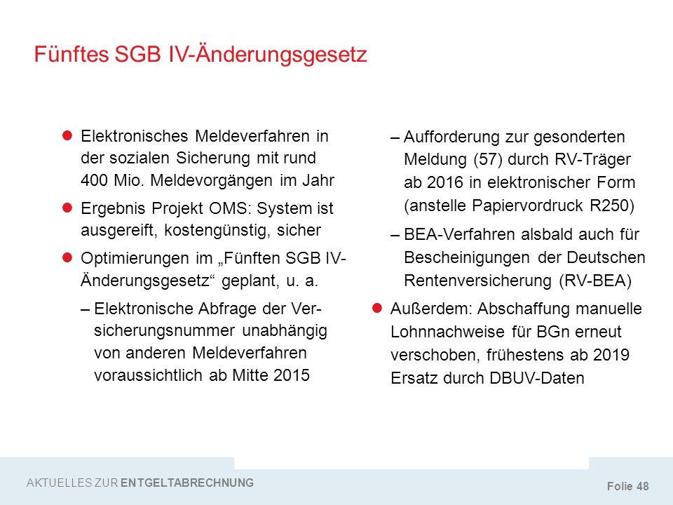 Fünftes SGB IV-Änderungsgesetz