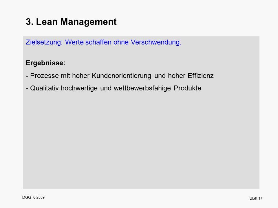 3. Lean Management Zielsetzung: Werte schaffen ohne Verschwendung.