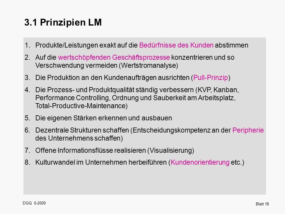 3.1 Prinzipien LM Produkte/Leistungen exakt auf die Bedürfnisse des Kunden abstimmen.