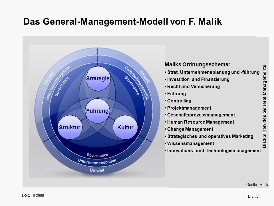 Das General-Management-Modell von F. Malik