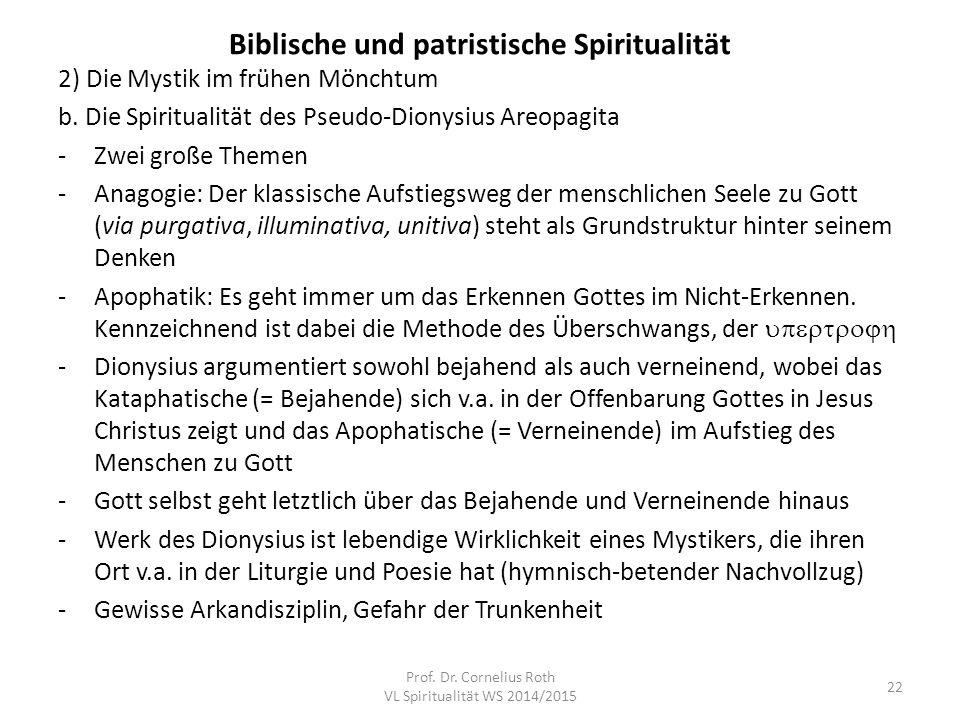 Biblische und patristische Spiritualität