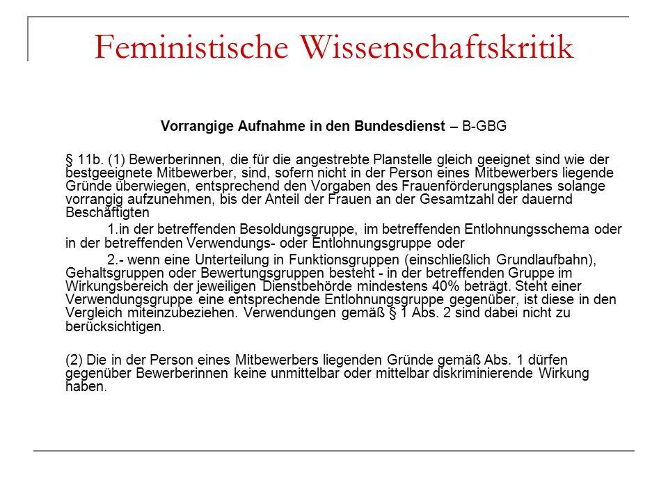 Feministische Wissenschaftskritik