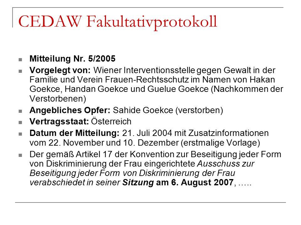 CEDAW Fakultativprotokoll